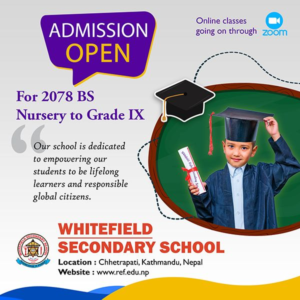 ADMISSION OPEN FOR NURSERY TO GRADE IX
