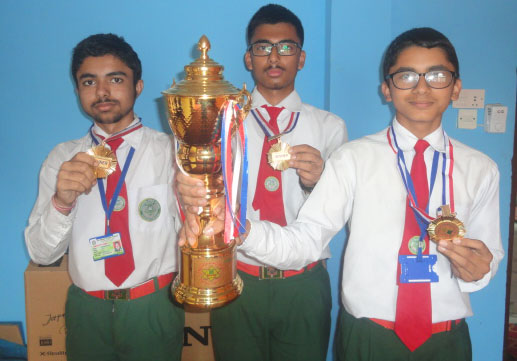 First in Inter-School Quiz Contest 2074